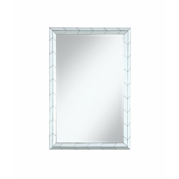 Bruford Rectangular Beveled Frame Wall Accent Mirror by Bungalow Rose
