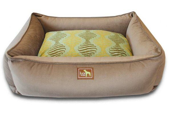 Spirals Easy-Wash Cover Lounge Donut Bolster by Luca For Dogs