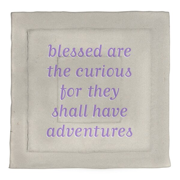 Curiosity Inspirational Quote Single Reversible Comforter
