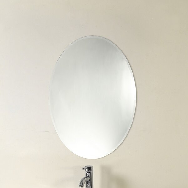 Farrer Frameless Wall Mirror by Charlton Home