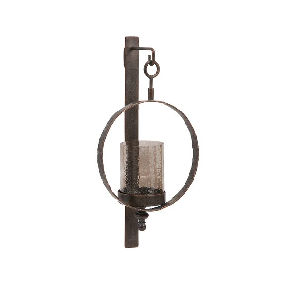 Circular Metal Sconce by Trent Austin Design