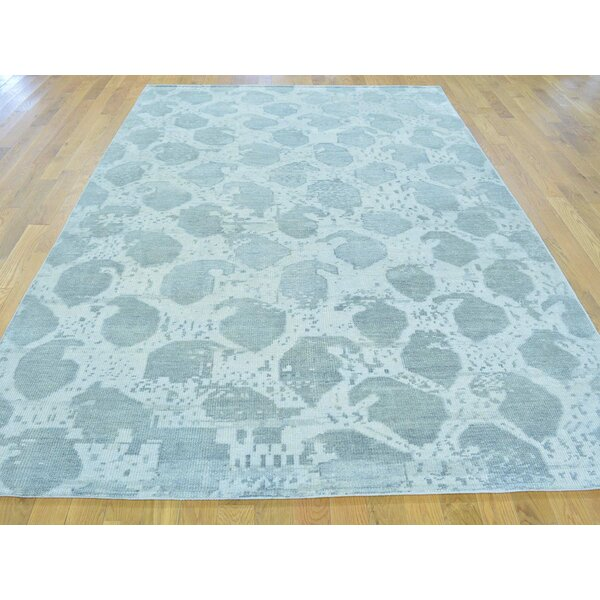 One-of-a-Kind Bearer Hand-Knotted Ivory Wool Area Rug by Isabelline