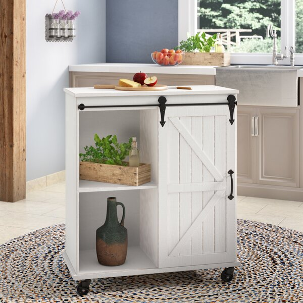 Banbury Multi-Purpose Wooden Rolling Kitchen Cart by Gracie Oaks