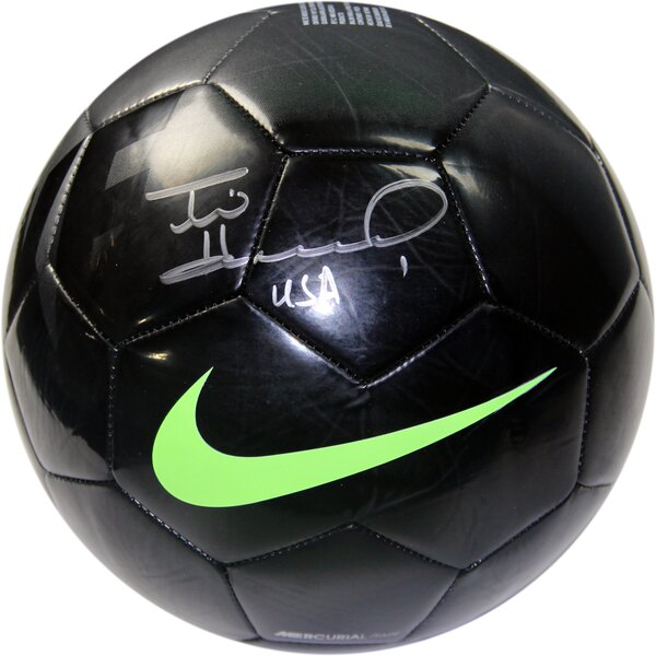 Tim Howard Signed in Soccer Ball by Steiner Sports