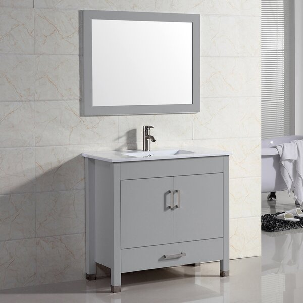 Vidya 48 Single Bathroom Vanity Set with Mirror by Latitude Run