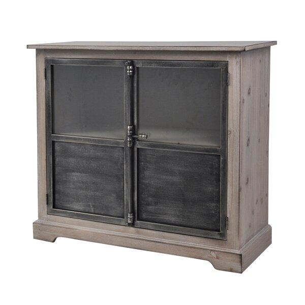 Pursel Pine Wood 2 Door Accent Cabinet