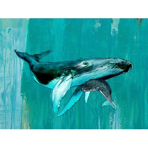 'Whale/Calf' by John Baran Painting Print on Wrapped Canvas by GreenBox Art