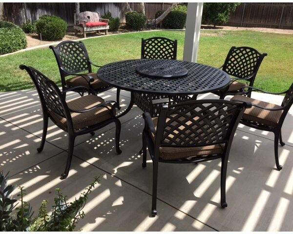Middleburgh 8 Piece Dining Set with Cushions by Darby Home Co