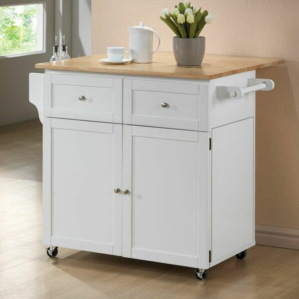 Carol Kitchen Island with Butcher Block Top by Wildon Home®