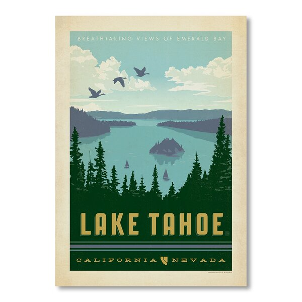 National Park Lake Tahoe Vintage Advertisement by East Urban Home
