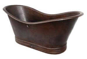 Adamo Freestanding Copper Bath Tub Soaking Bathtub by Novatto