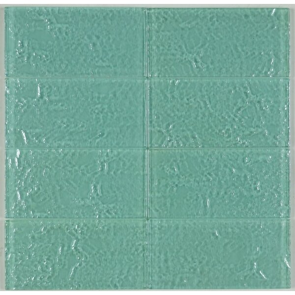 3 x 6 Glass Subway Tile in Green by Multile