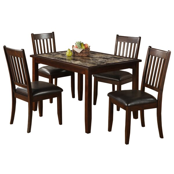 Engles 5 Piece Solid Wood Dining Set by Red Barrel Studio Red Barrel Studio