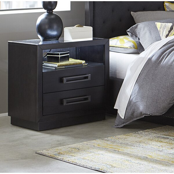Broadnax 2 Drawer Nightstand by Union Rustic