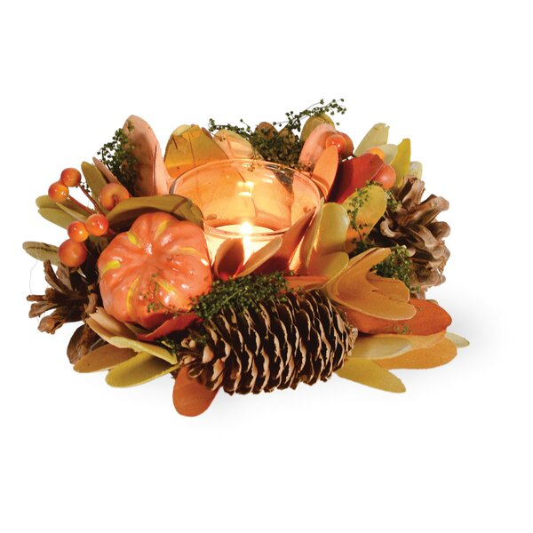 Autumn Splendor Pumpkin Candelabrum (Set of 2) by The Holiday Aisle
