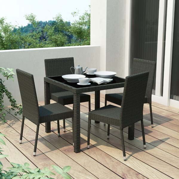 Delafield 5 Piece Dining Set by Ebern Designs