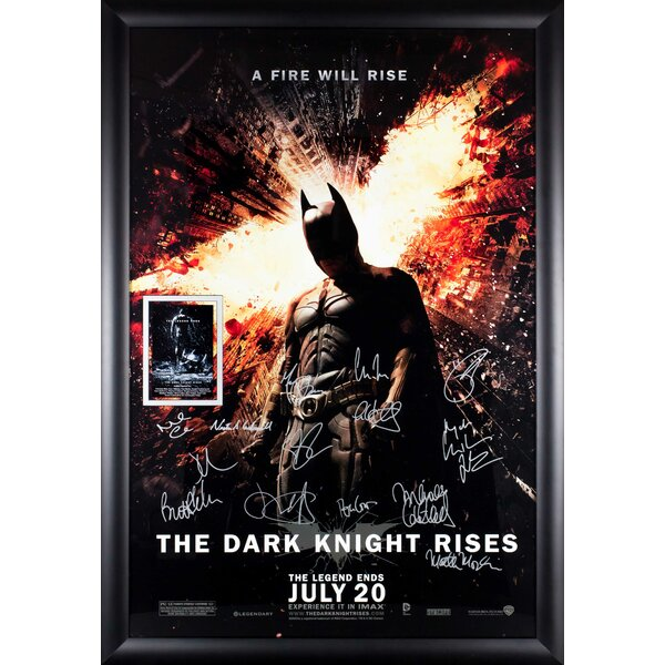 The Dark Knight Rises Autographed Movie Poster Framed Wall Art by LuxeWest