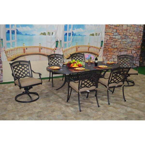 Britt 7 Piece Sunbrella Dining Set with Cushions by Fleur De Lis Living
