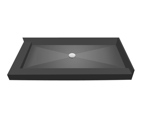 60 x 42 Double Threshold Shower Base by Tile Redi