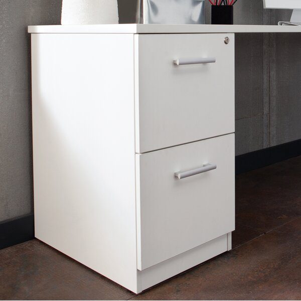 Gerth Locking Pedestal 2-Drawer Vertical Filing Cabinet by Ebern DesignsGerth Locking Pedestal 2-Drawer Vertical Filing Cabinet by Ebern Designs
