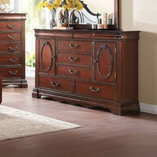 Daxton Wooden 5 Drawer Combo Dresser by Astoria Grand
