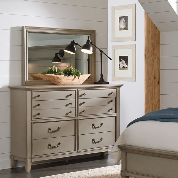 Loughton 8 Drawer Double Dresser with Mirror by Canora Grey