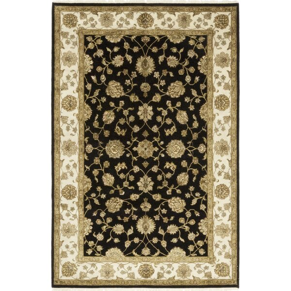 One-of-a-Kind Corrado Hand-Knotted Black/Beige Indoor Area Rug by Astoria Grand