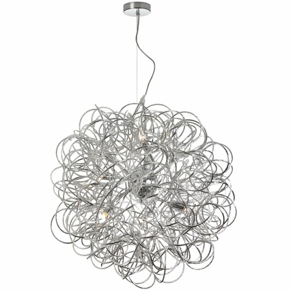 Baya 6-Light Unique / Statement Globe Chandelier By Radionic Hi Tech