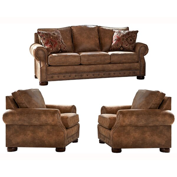 Gabrielle 3 Piece Living Room Set by Loon Peak