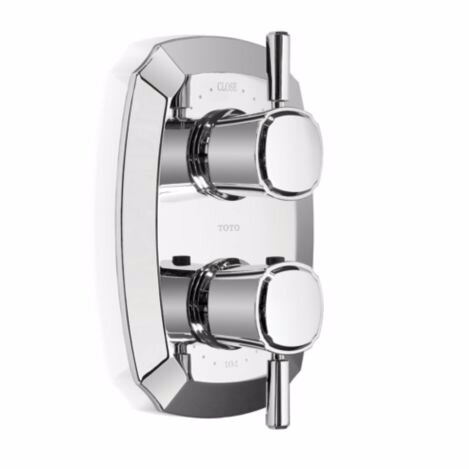 Guinevere Lever Type SMA Valve Trim with Dual Volume Controls in Polished Chrome by Toto
