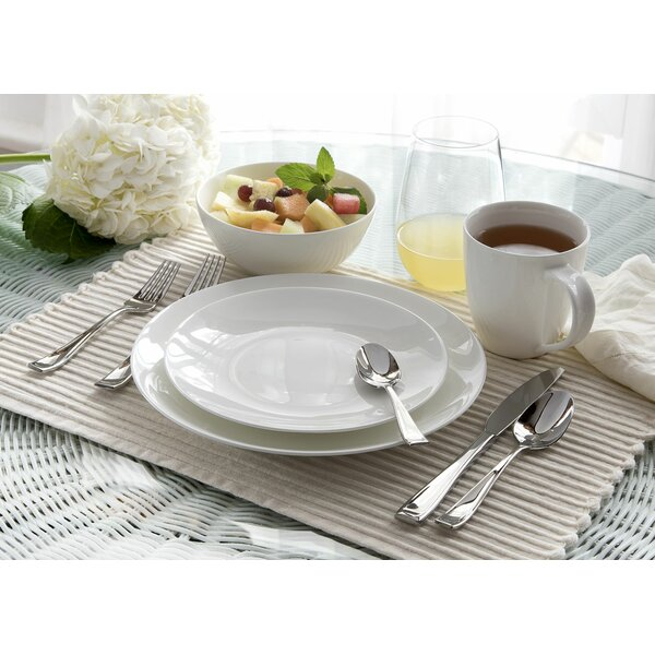 Moda Coupe 16 Piece Dinnerware Set, Service For 4 by Oneida