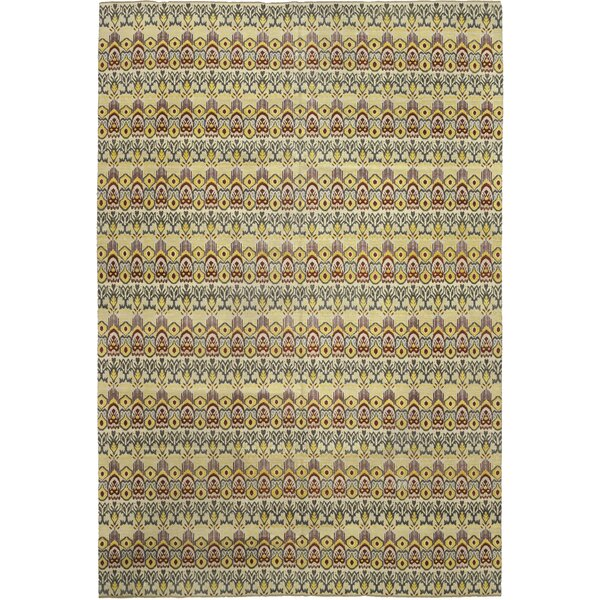 One-of-a-Kind Deven Hand-Knotted Wool Yellow/Green Indoor Area Rug by Isabelline