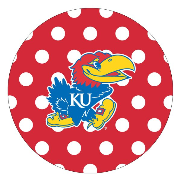 University of Kansas Dots Collegiate Coaster (Set of 4) by Thirstystone