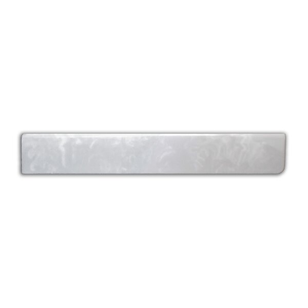 19 X 3 Left Hand Side Splash in White on White by Imperial