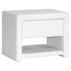 Baxton Studio Massey Nightstand in White by Wholesale Interiors