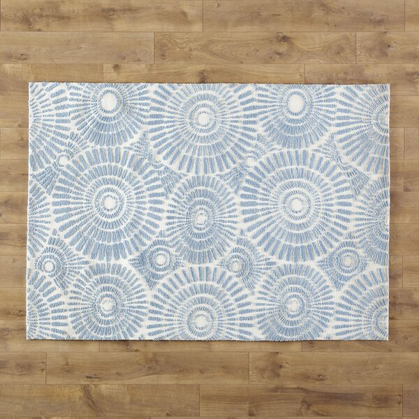 Dandelion Wishes Hand-Woven Blue Area Rug by Birch Lane Kids™