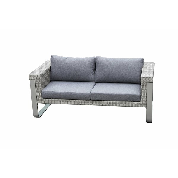 Regalado Modern Contemporary Outdoor Loveseat with Cushions by Orren Ellis