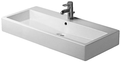 Vero Ceramic Rectangular Wall Mount Bathroom Sink with Overflow by Duravit