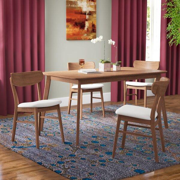 Ado 5 Piece Solid Wood Dining Set by Brayden Studio