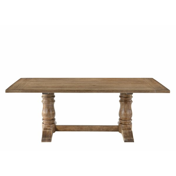 Lexie Double Pedestal Dining Table by Ophelia & Co.