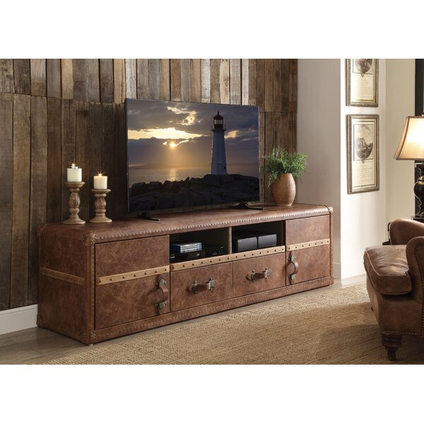 Navi Top Grain Leather TV Stand for TVs up to 70