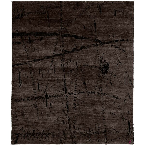One-of-a-Kind Cecillia Hand-Knotted Tibetan Brown 10' Square Wool Area Rug