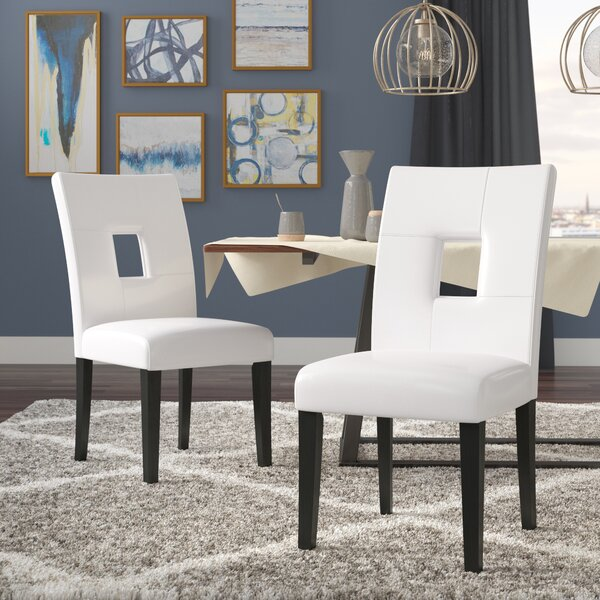 Oakely Keyhole Solid Wood Dining Chair (Set of 2) by Winston Porter