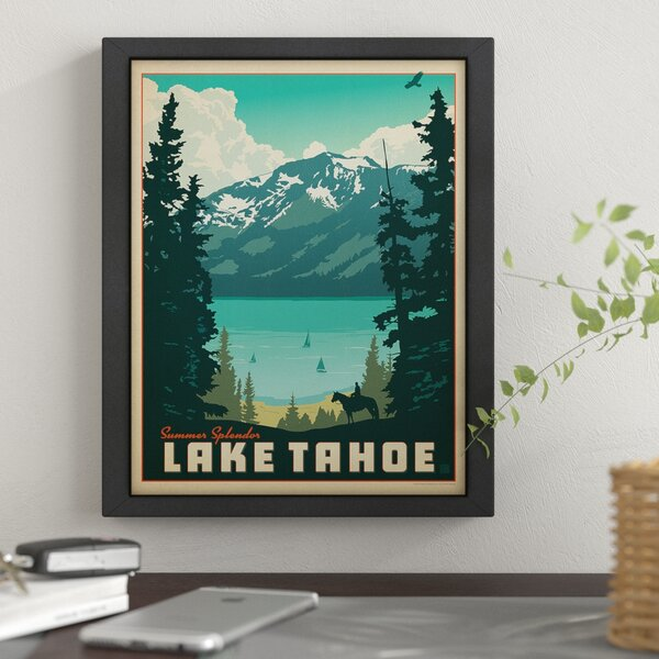 Lake Tahoe 1002 Framed Vintage Advertisement by East Urban Home