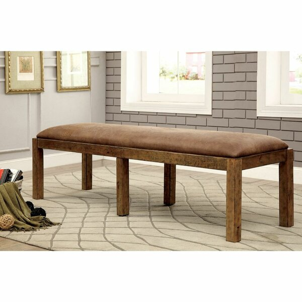 Warthen Upholstered Bench by Canora Grey Canora Grey