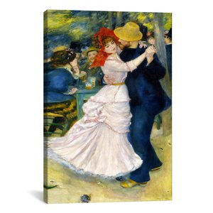 'Dance at Bougival' by Pierre-Auguste Renoir Painting Print on Canvas by iCanvas