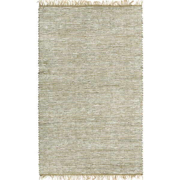Sandford Hand Woven White Area Rug by Bungalow Rose