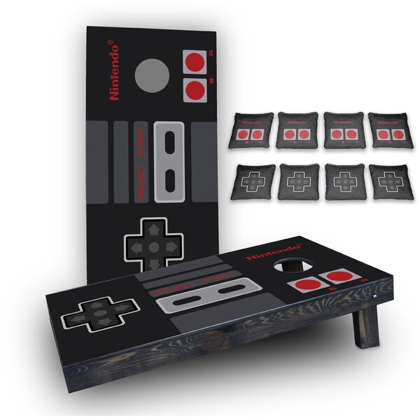 Nintendo Custom 10 Piece Cornhole Board Set by Custom Cornhole Boards
