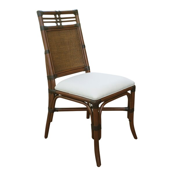 Lamont Rattan Side Chair in Brown by Bay Isle Home Bay Isle Home
