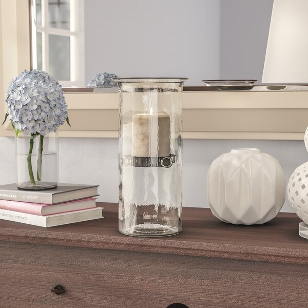 Mini Glass Hurricane by Rosecliff Heights